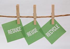 リサイクル・リユース品、処分品の仕分け作業