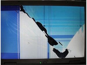 液晶割れのLCDモニター・TV